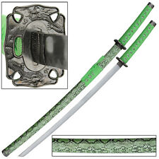 Green Water Snake Japanese Samurai Katana Sword