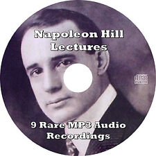 Napoleon Hill Lectures on Success & Achievement (9 Rare Recordings) MP3 Audio CD
