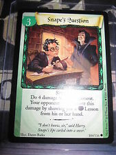 HARRY POTTER TRADING CARD GAME TCG BASIC SNAPE'S QUESTION 104/116 COM ENG MINT