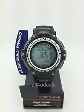 Mens Casio SGW100-1V Black Rubber Compass Thermometer Digital Sport Alarm Watch
