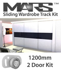 Sliding Wardrobe Track gear kit DIY set for wardrobe. Alu track 1200mm 2 doors