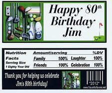Golf birthday party favors candy wrappers