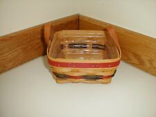 Longaberger Small Berry Branch Award Basket W Plastic Protector Signed by Tami