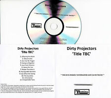 DIRTY PROJECTORS Swing Lo Magellan UK 12-trk watermarked promo test CD