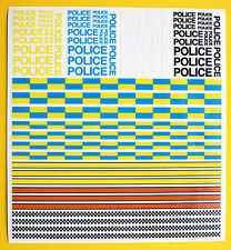 SLOT CAR SCALEXTRIC POLICE stickers decals Ideal for Die Cast CODE 3 models
