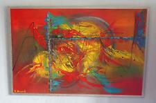"""""""corsa all'oro """"acrilico dipinto dell'artista Hilde formulate Art Painting unico!"""
