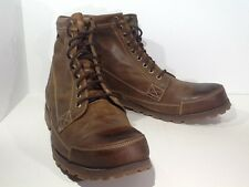 TIMBERLAND Men's Earthkeepers Sz 15 Red Brown Leather Ankle Boots Shoes X1-1378