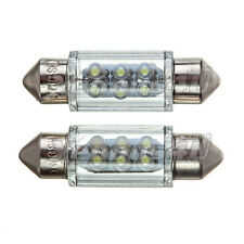 36mm Number License Plate 6 LED Xenon White 6000K Festoon Light Bulbs C5W
