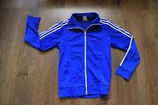 Adidas 80's 90's  Vintage Blue Classic   Europe  Track Top   100% Authentic