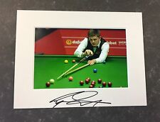 An 8 x 6 inch mount with photo signed by Snooker Player Ryan Day. (2).