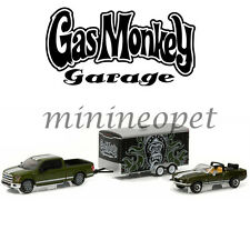 GREENLIGHT 31010 A GAS MONKEY GARAGE 2015 FORD F-150 1968 SHELBY GT 500KR 1/64
