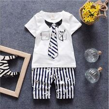 2PC Baby Boys Clothes Outfit Boy Child cotton Outfits T-shirts + Pants 6-12M