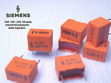 [15x ] SIEMENS KS - 10nF 2.5% 63V polystyrene foil Audio capacitors  x 15 Pieces