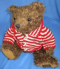 Giorgio Beverly Hills 1996 Collectors Bear Brown Shaggy Teddy Bear With Sweater