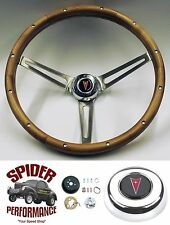 "1967-1968 GTO Tempest Grand Prix steering wheel PONTIAC WALNUT 15"" Grant"