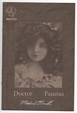 DOCTOR FAUSTUS #1 SIGNED ASHCAN EDITION  Michael O'Connell     NM