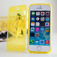 For iPhone Clear Silicone Skin Case Transparent Soft Gel 360 Cover Ultra Thin