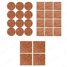 28Pc Cork Skid Protectors +SELF ADHESIVE+ Round/Square Floor Protection Pads