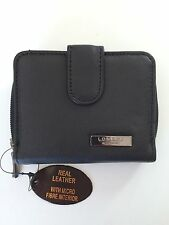 Women's Ladies Black Leather Purse Wallet Lorenz New Special Offer