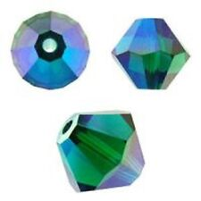 Swarovski Crystal Bicone. Emerald 2X Color. 4mm. Approx. 144 PCS. 5328