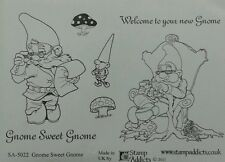 Unmounted rubber stamps Gnome Sweet Gnome