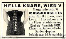 Korsett Damen und Herren Knabe Reklame 1938 Masskorsett Corsett Mieder Leder Ad