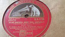 B GIGLI & D GIANNINI TU QUI SANTUZZA & NO NO TURIDDU HMV DB1790