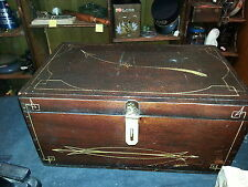 vintage box w gold hightlights old cracked shellac very neat antique box