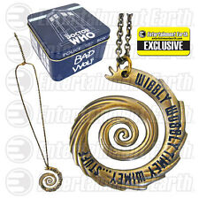 Doctor Who Wibbly Wobbly Vortex Gold Pendant Necklace - EE Exclusive