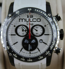 Mulco MW1-29878-015 Deep Scale Chronograph White Men's Watch Silicone Strap