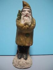 "ANTIQUE RARE GERMAN CHRISTMAS BELSNICKLE SANTA - PAPER-MACHE - 5.5"" - 1890's VG"