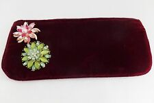 Vintage Made for Gerlain Shalimar Fragrances Make Up Bag Clutch Two Broach Pins