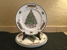 Johnson Brothers Victorian Christmas China Set of 4 Dinner Plates