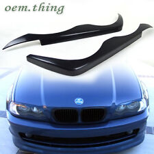 98-02 PAINTED BMW E46 4D SEDAN 328 323 325 EYELIDS EYEBROWS HEADLIGHT COVER