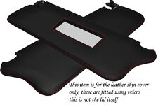 RED STITCH FITS FORD FIESTA MK2 XR2 83-89 2X SUN VISORS LEATHER COVERS ONLY