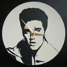 "'Elvis Presley' 12"" LP Vinyl Record Wall Clock, pop art, stencil, canvas, print"