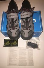 SHIMANO SH-MT43G Mt. Bike Shoes - Grey/Red Size US 8.3 /Euro 42 /26.5 Cm