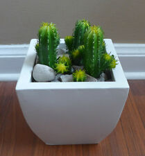 12 Artificial Mini Columnar Cactus Plants Grass Home Garden Decor (Set of 3)