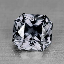 1.30CTS GORGEOUS CUSTOM CUT NATURAL STEEL GRAY SPINEL VIDEO IN DESCRIPTION