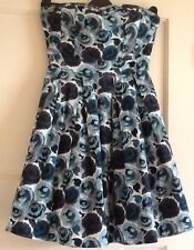 Strapless Blue Party Dress From H&M, size 8
