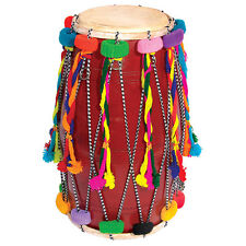 Large Double Ended Decorated Bhangra Dhol Traditional Indian Drum