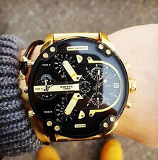 Brand Luxury DS Watches Men Golden Watch Stainless steel Quartz Wristwatch