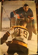 "1970 Ed Giacomin New York Rangers Sports Illustrated Original 24 x 36"" Poster SI"