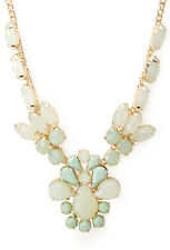 F21 Forever21 Signature Faux Gemstone Necklace
