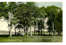 Gazebo in Small Town City Park-Trees-Delano-Minnesota-1909 Vintage Postcard