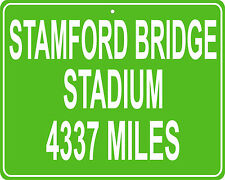 Stamford Bridge Stadium in Fulham, London  mileage sign your house