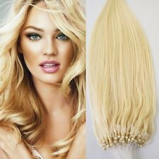 24 70g 100s Micro Ring Loop 100% Human Hair Extensions Natural Soft Real Beauty