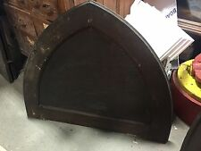 """c1880 antique GOTHIC over door arched pediment PINE 39.5 w X 32"""" H old stain"""