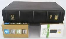 NIV Giant Print Compact Bible Black Ebony Premium Leather $124 Retail NEW + Box