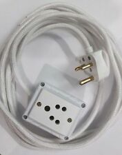 1 Sockets Power Extension(3 Mtrs.ClothCord,Anchor&Click Brand Access) FreeTester
